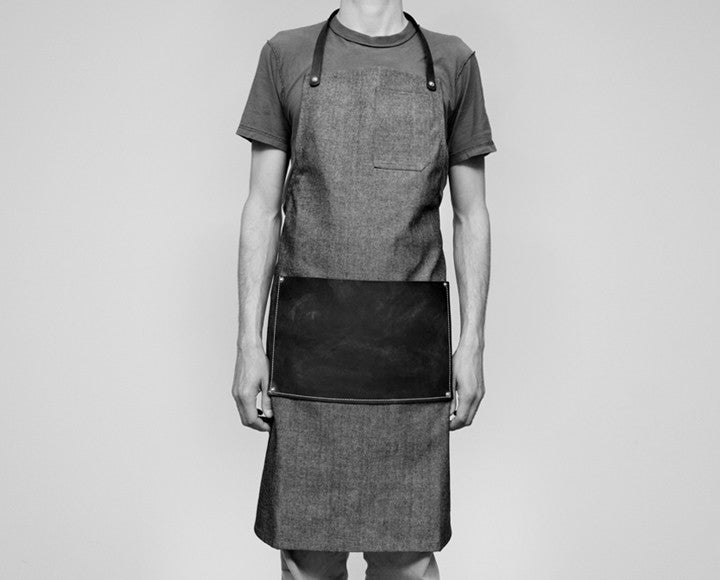Leather Lap Apron - Denim