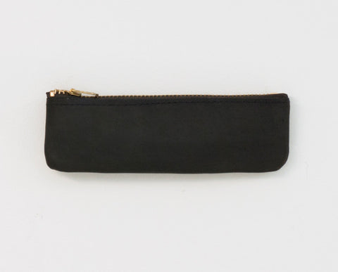 Leather Coin Pouch - Black