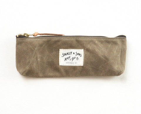 Pencil Zip Pouch - Khaki