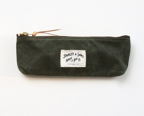 Pencil Zip Pouch - Olive