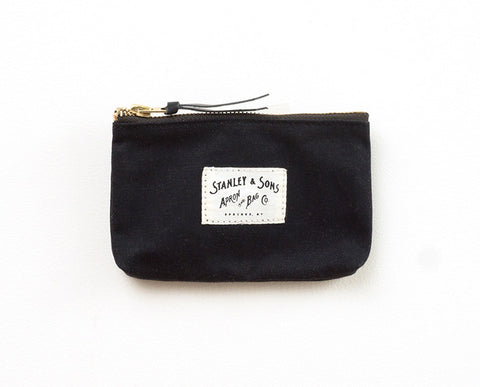 Small Zip Pouch - Black