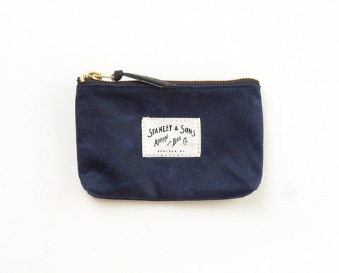 Small Zip Pouch - Navy