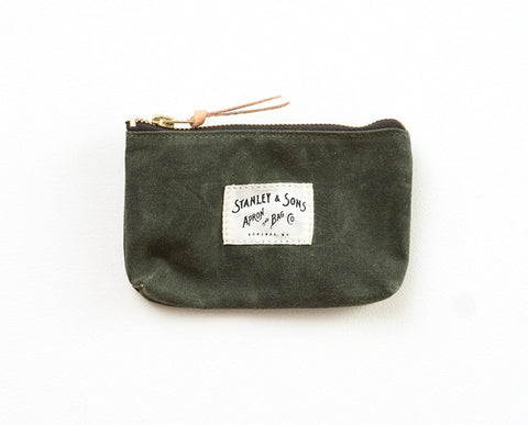Small Zip Pouch - Olive