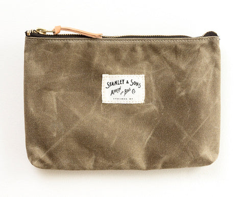 Medium Zip Pouch - Khaki