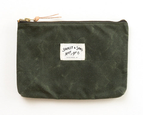 Medium Zip Pouch - Olive