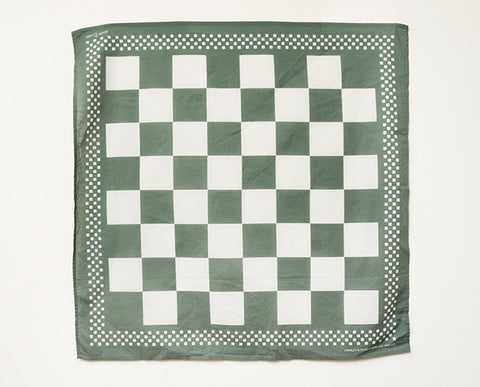 Checkerboard Bandana - Green