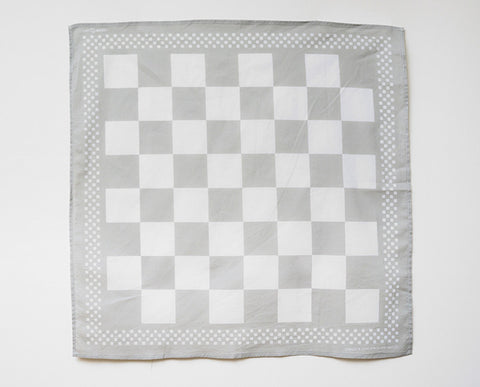 Checkerboard Bandana - Grey