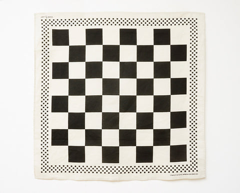 Checkerboard Bandana - Natural
