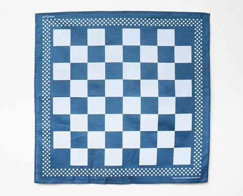 Checkerboard Bandana - Blue