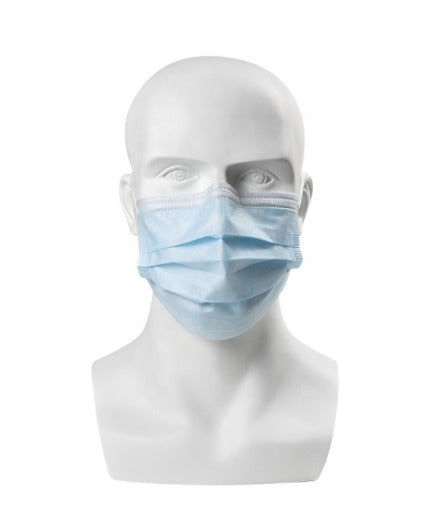 Disposable 3-Ply Face Masks - Pack of 50