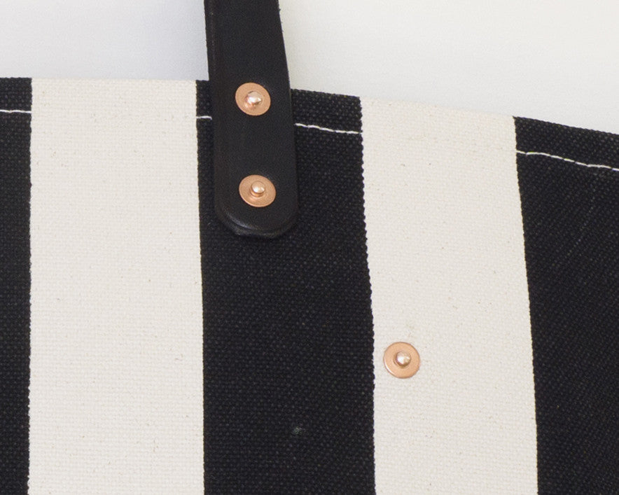 Small Black Stripe Tote
