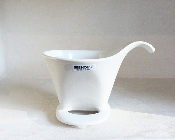 Bee House Ceramic Coffee Dripper - White