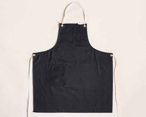 Cloth Strap Standard Apron - Black Selvage Twill