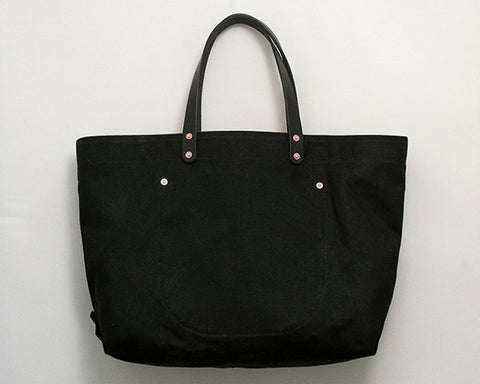 Black Waxed Canvas Tote