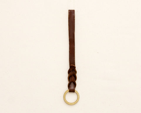 Braided Key Fob - Brown