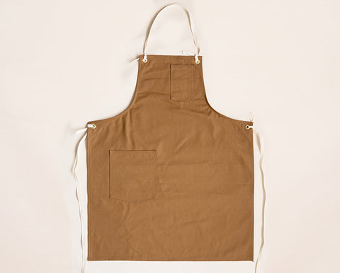 Cloth Strap Standard Apron - Camel Canvas