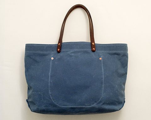 Slate Waxed Canvas Tote
