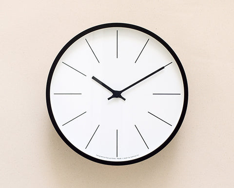 Lemnos Wall Clock - Black