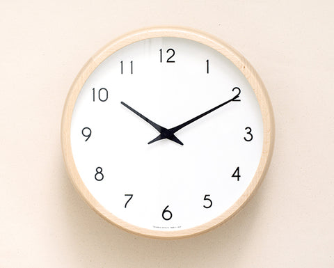 Lemnos Wall Clock - Natural Wood
