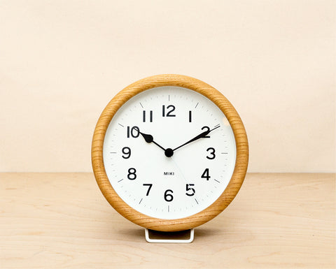 Small Clock - Natural Round
