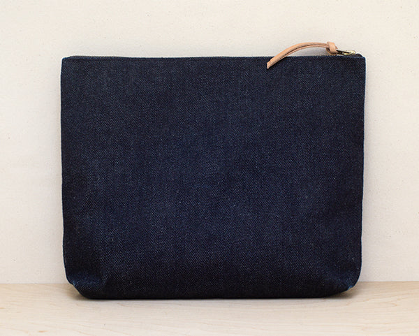 23oz. Denim Large Zip Pouch
