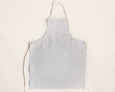 Cloth Strap Standard Apron - Gray