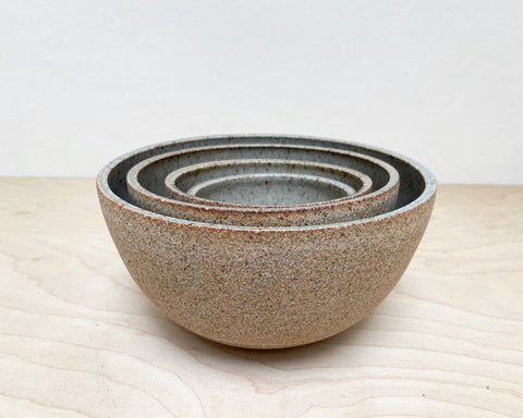 Ceramic Nest of 4 Bowls