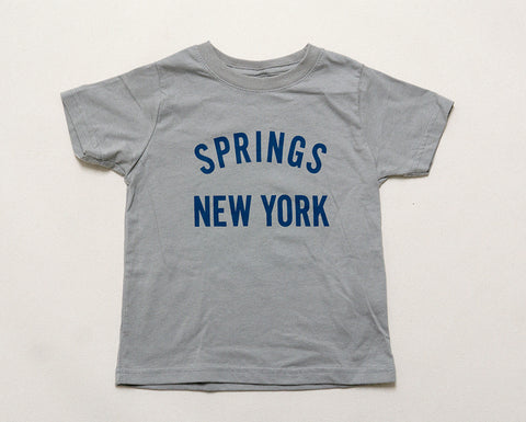 Kid's Springs NY T-Shirt - Grey/Blue