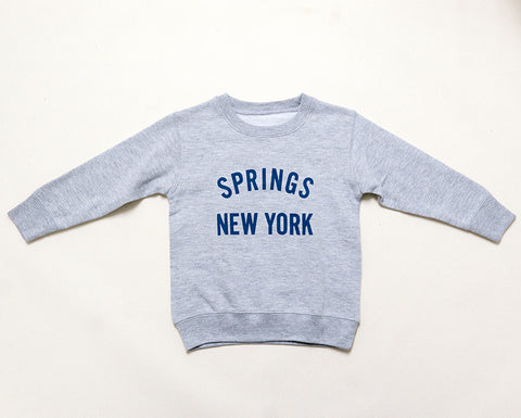 Kids Springs NY Sweatshirt - Grey