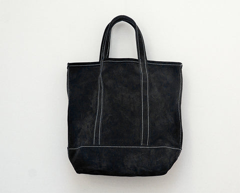 Mini Suede Tote - Black