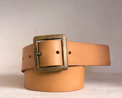 Leather Belt - NATURAL