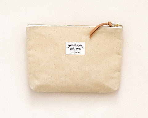 Medium Zip Pouch - Natural