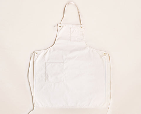 Cloth Strap Standard Apron - Natural Selvage Canvas