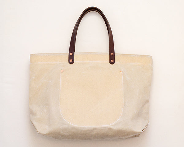 Natural Waxed Canvas Tote