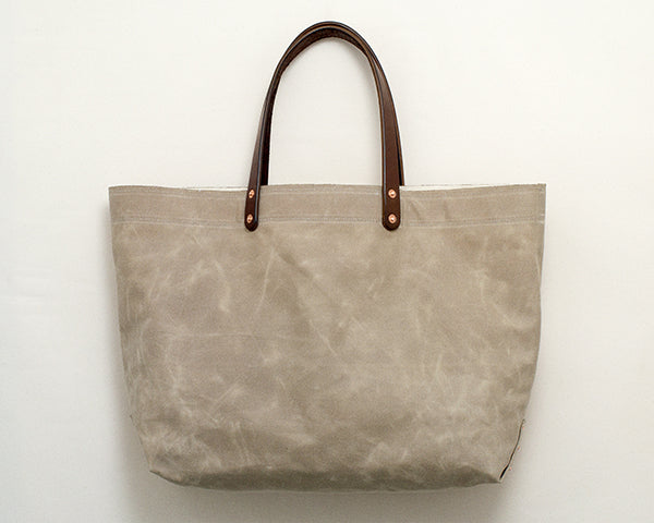 Sage Waxed Canvas Tote