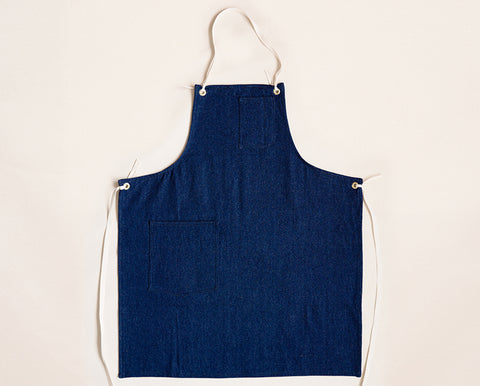 Cloth Strap Standard Apron - Dark Washed Denim