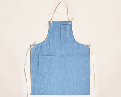 Cloth Strap Standard Apron - Light Washed Denim