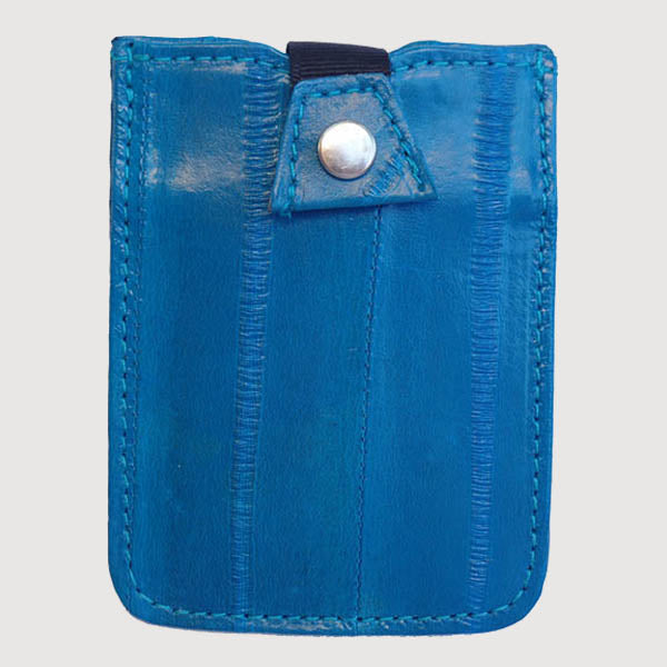 Eel Leather Credit Card Case