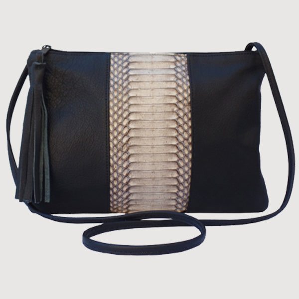 Cobra Belly / Leather Crossbody - Shoulder Handbag