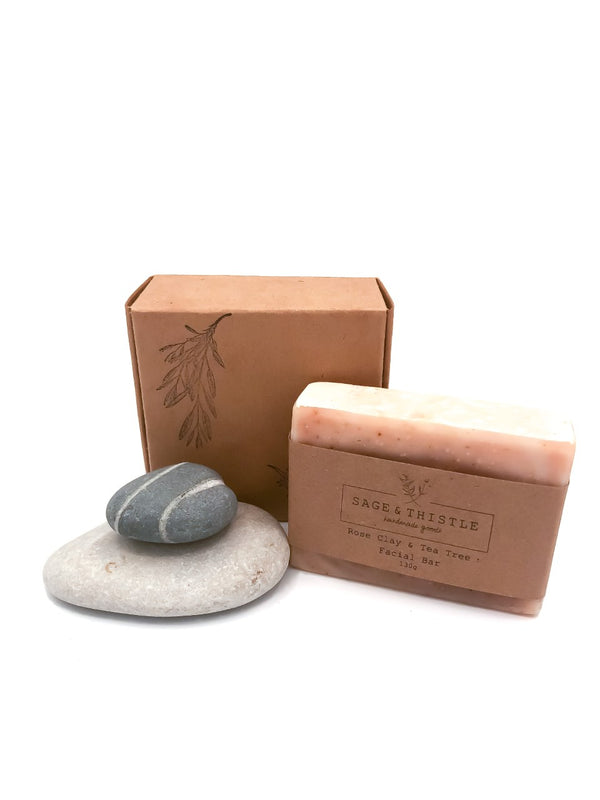 Sage & Thistle Rose Clay & Tea Tree Bar