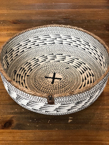 Handmade Rope Tray in Black Stitch