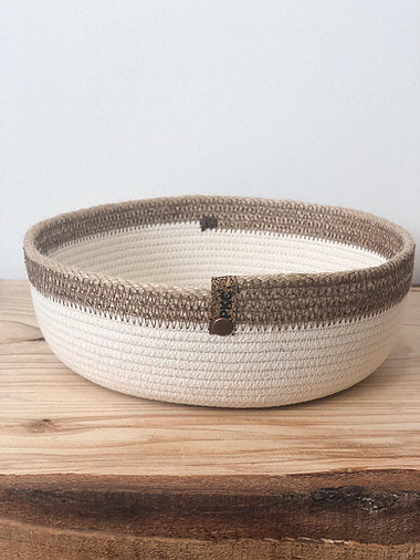 Handcrafted Rope Bowls - Natural or Hemp Trim