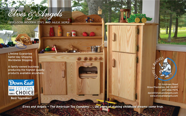Wooden Play Kitchens and More | Elves and Angels – Elves ...
