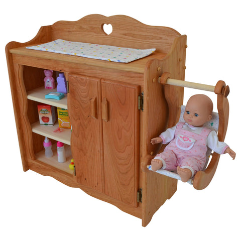 Dollyu0027s Changing Table In Hardwood Elves U0026 Angels