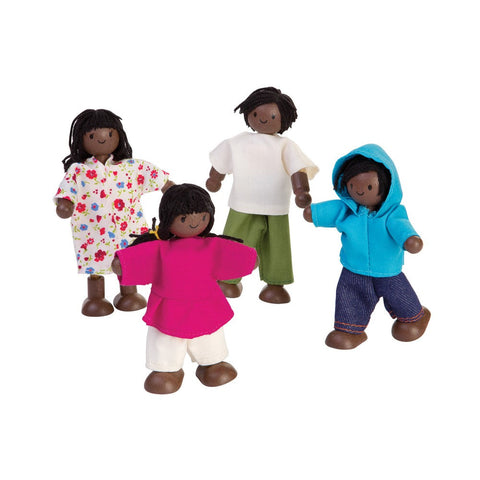 Plan Toys Dark Skinned Dollhouse Family-Elves & Angels