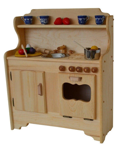 wooden play kitchen - julianna's kitchen | elves & angels heirloom