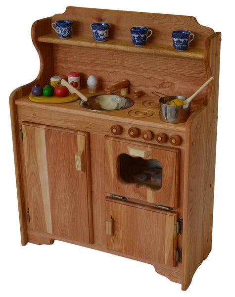 Abbie's Kitchen Deluxe in Dark Hardwood-Elves & Angels