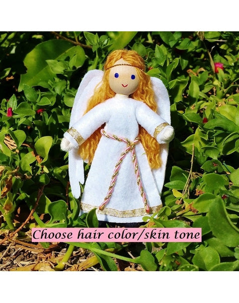 Angel Doll - Red Hair-Elves & Angels