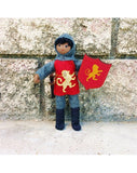 Dollhouse Castle Knight Doll (red tunic)-Elves & Angels