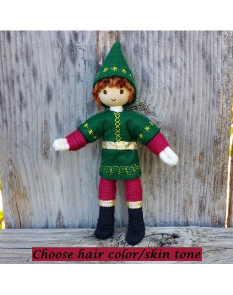 Caring Doll Elf Boy (Red hair)-Elves & Angels